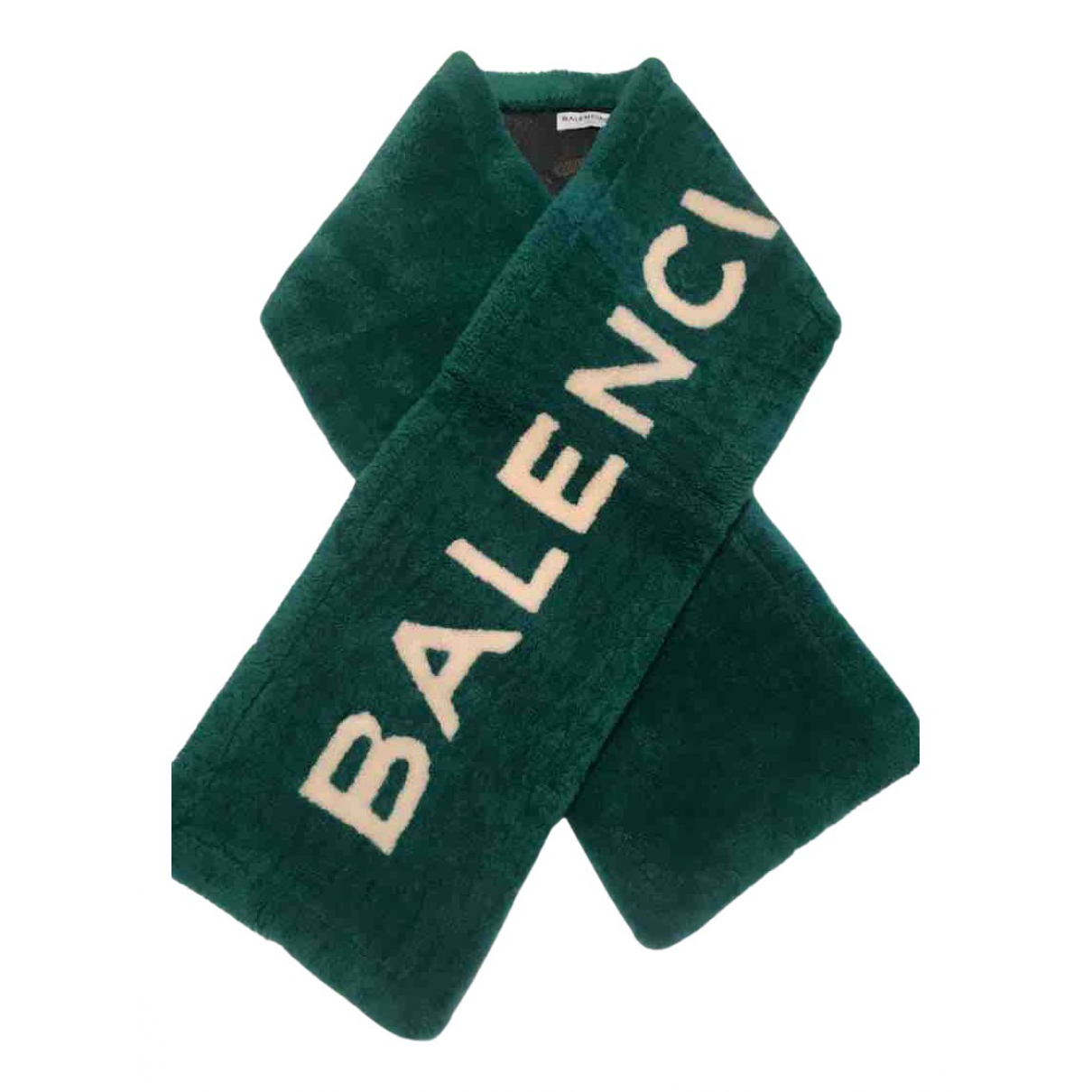 Balenciaga - Foulard   pour femme en mouton - vert