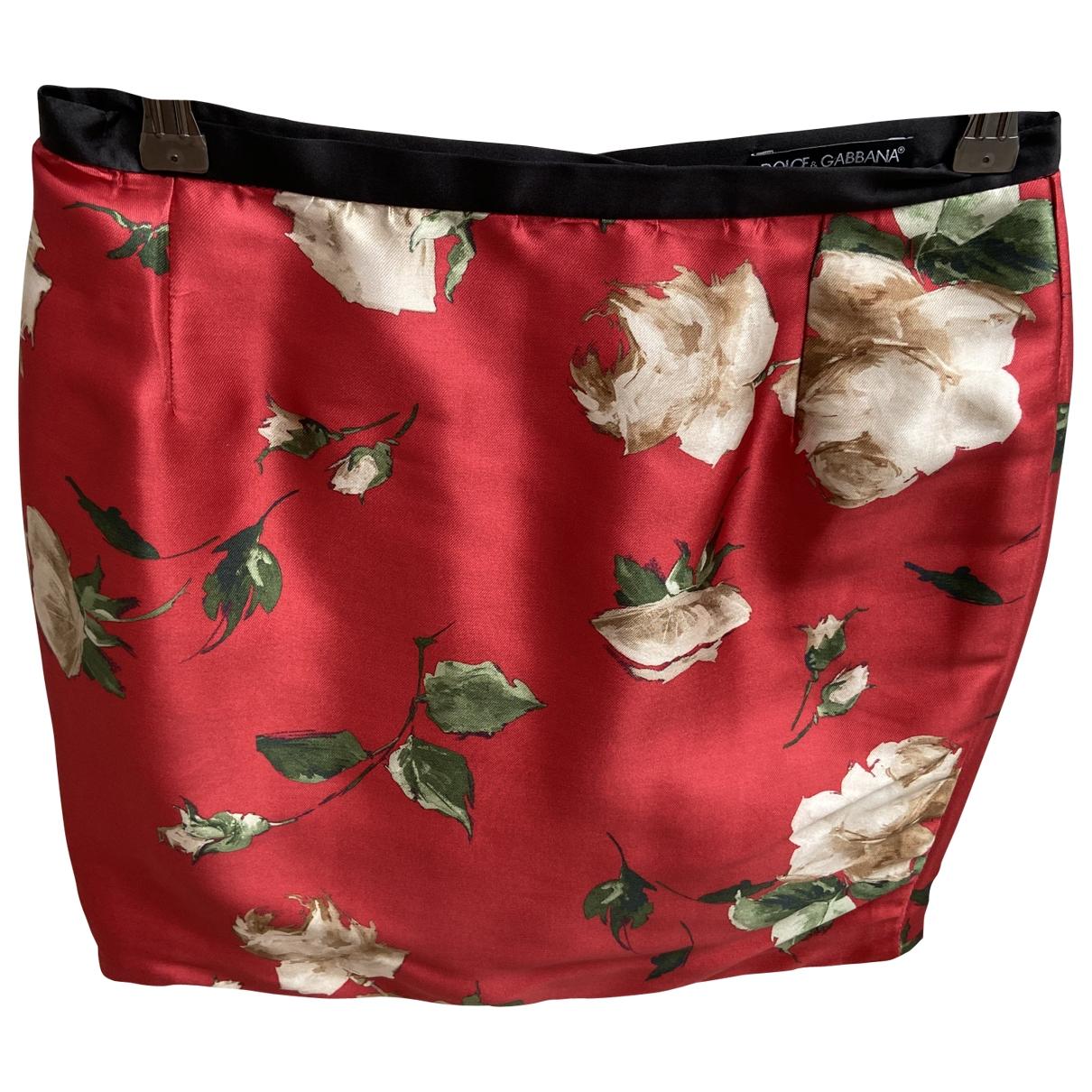 Dolce & Gabbana \N Rocke in  Rot Seide