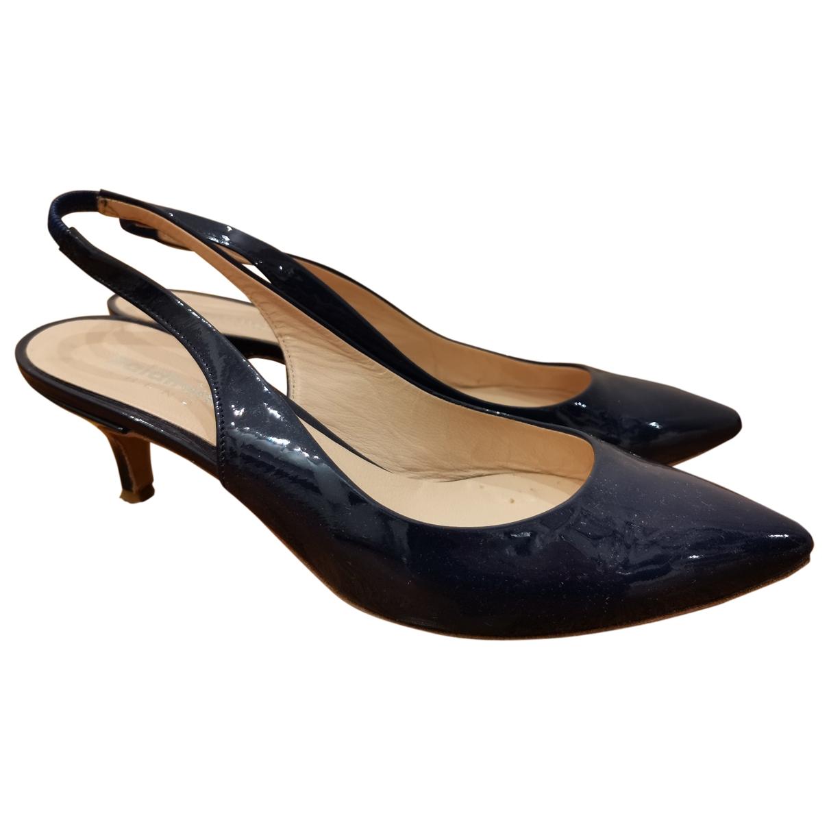 Baldinini - Escarpins   pour femme en cuir - bleu