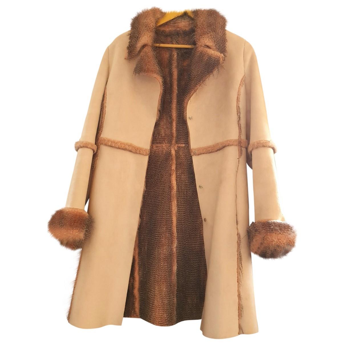 Non Signé / Unsigned \N Beige Velvet coat for Women 38 FR