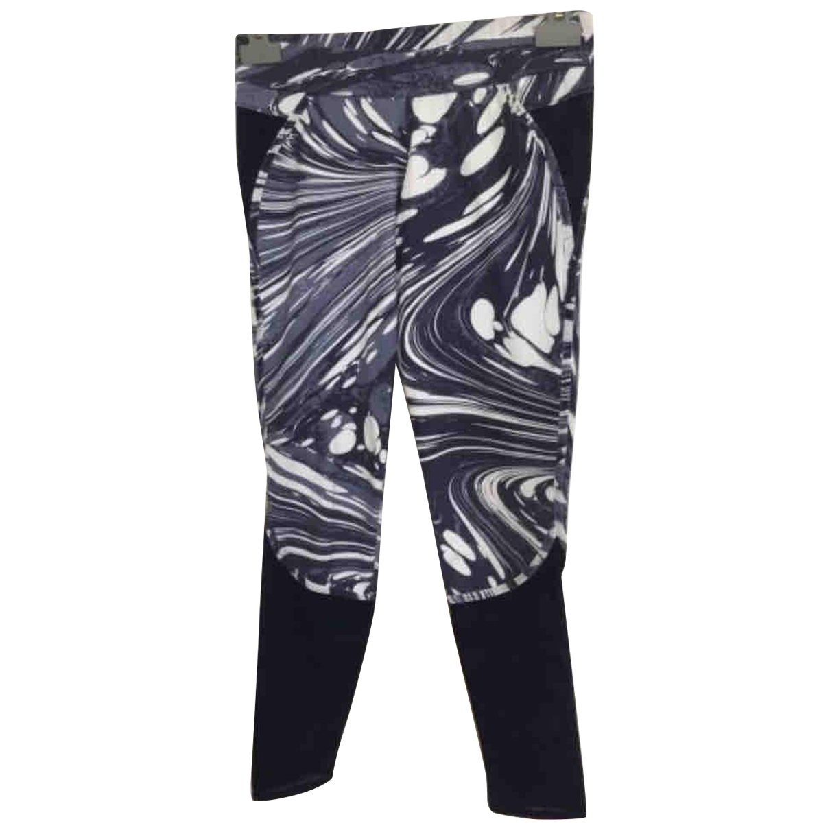 Stella Mccartney Pour Adidas \N Blue Spandex Trousers for Women XS International