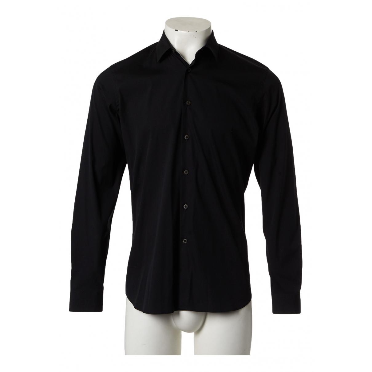 Prada N Black Cotton Shirts for Men 39 EU (tour de cou / collar)