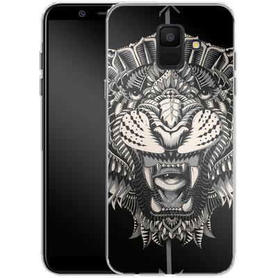 Samsung Galaxy A6 Silikon Handyhuelle - Eye Of The Tiger von BIOWORKZ