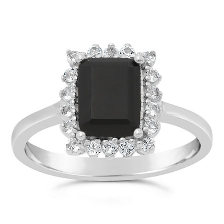 Womens Genuine Black Onyx Sterling Silver Cocktail Ring, 7 , No Color Family