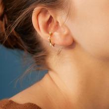 1pair Faux Pearl Decor Ear Cuff