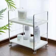 High-Polish Double Layer Cosmetic Storage Rack