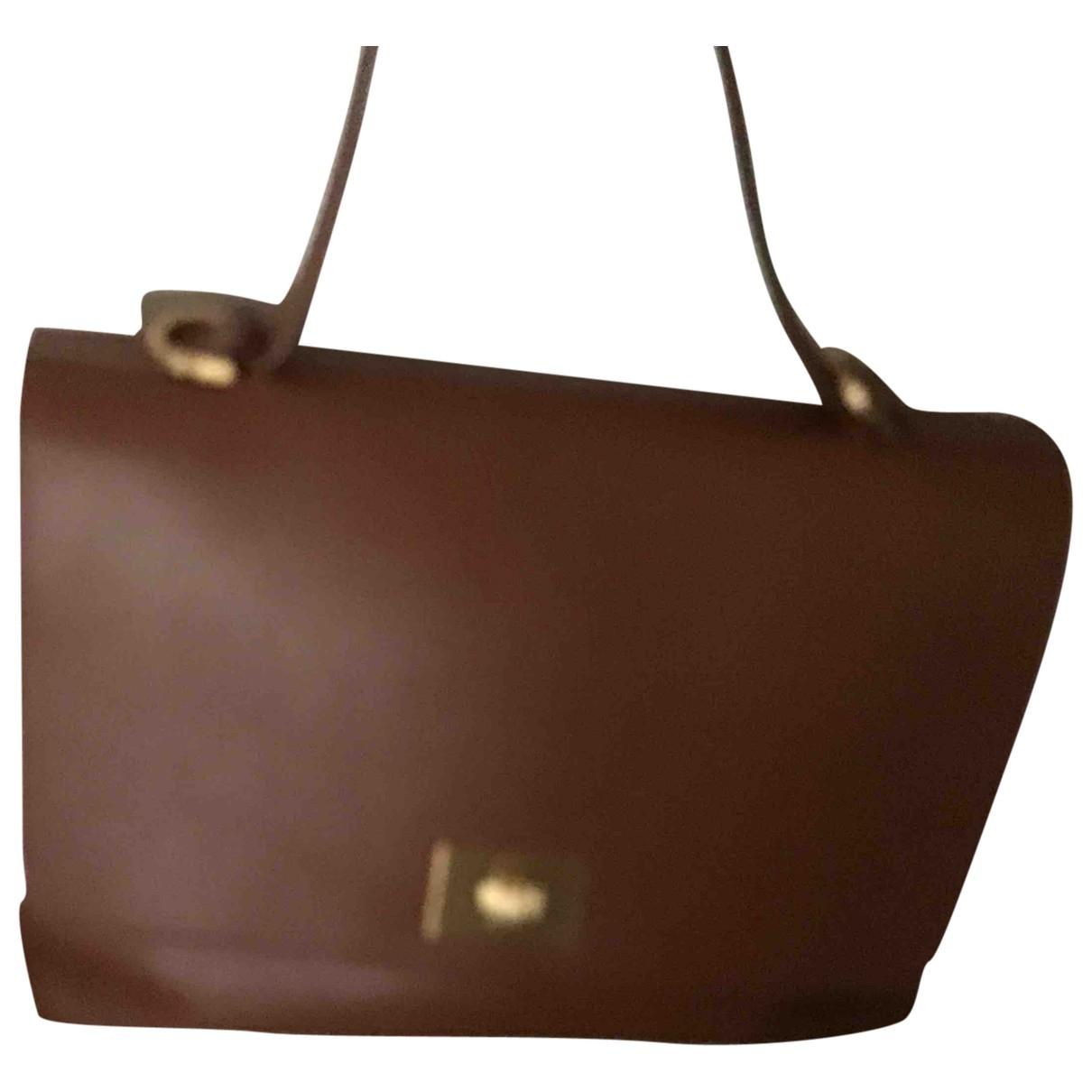 Avril Gau \N Camel Leather handbag for Women \N