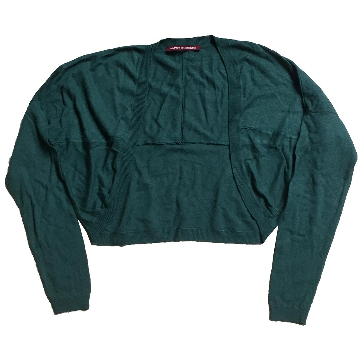 Comptoir Des Cotonniers \N Pullover in  Gruen Wolle