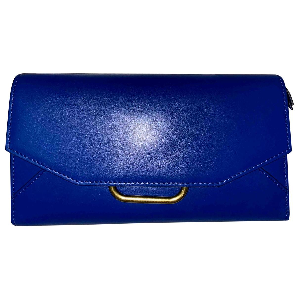 Isabel Marant - Pochette   pour femme en cuir - bleu