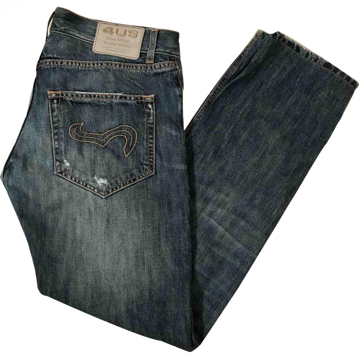 Cesare Paciotti \N Blue Cotton Jeans for Men 42 FR
