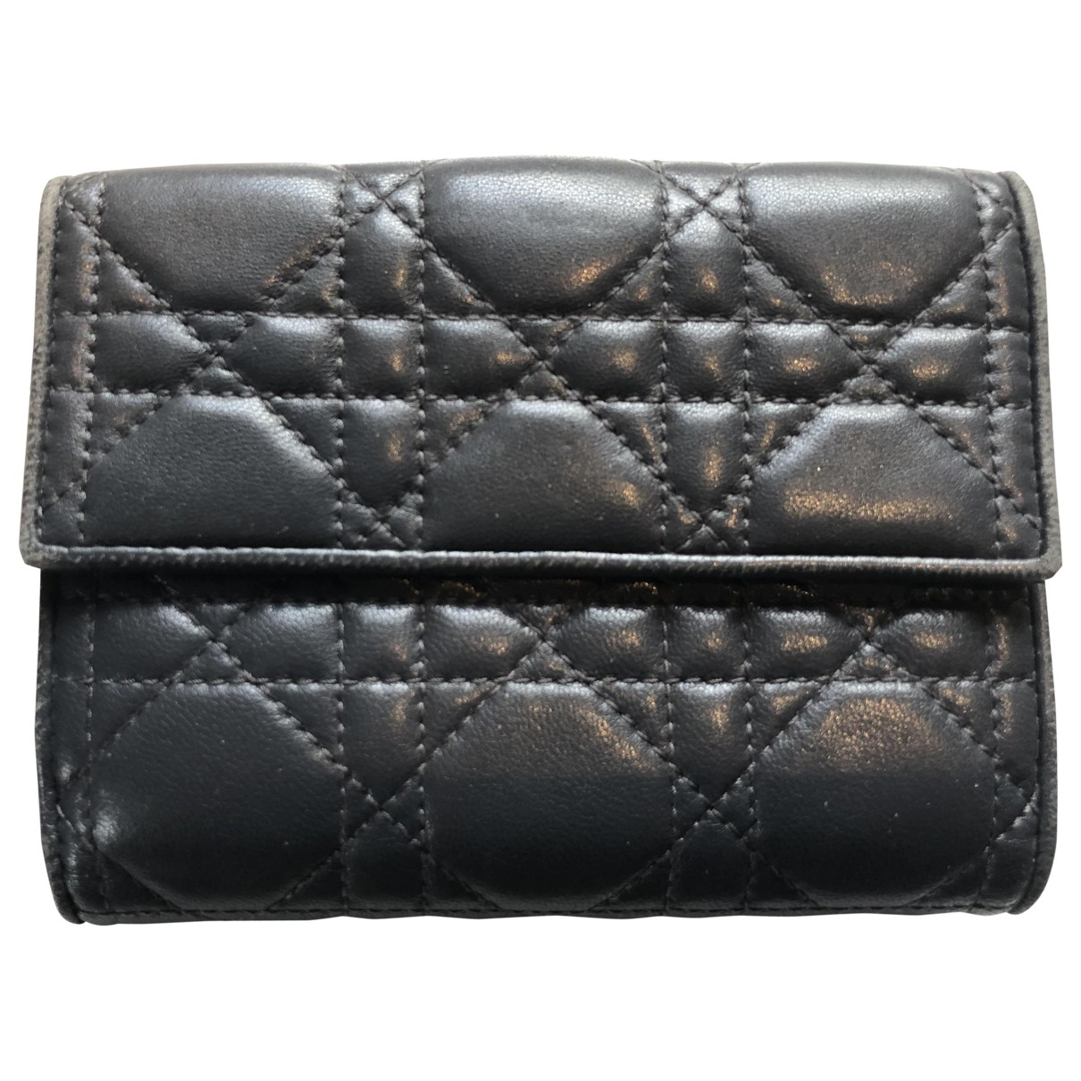 Dior \N Portemonnaie in  Grau Leder
