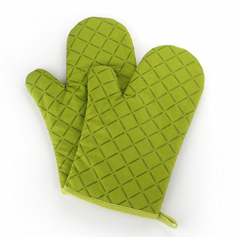 KCASA KC-PG02 1Pcs Silicone Coating Oven Mitts Microwave Oven BBQ Heat Resistant Potholder Gloves