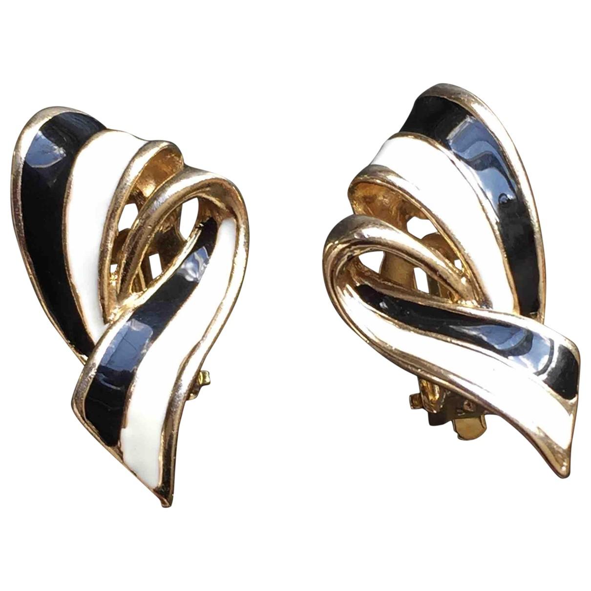 Non Signé / Unsigned N Black Metal Earrings for Women N