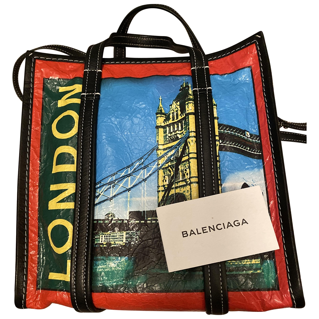 Balenciaga Bazar Bag Red Leather handbag for Women \N