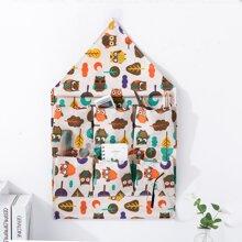 Owl Print Hanging Storage Bag