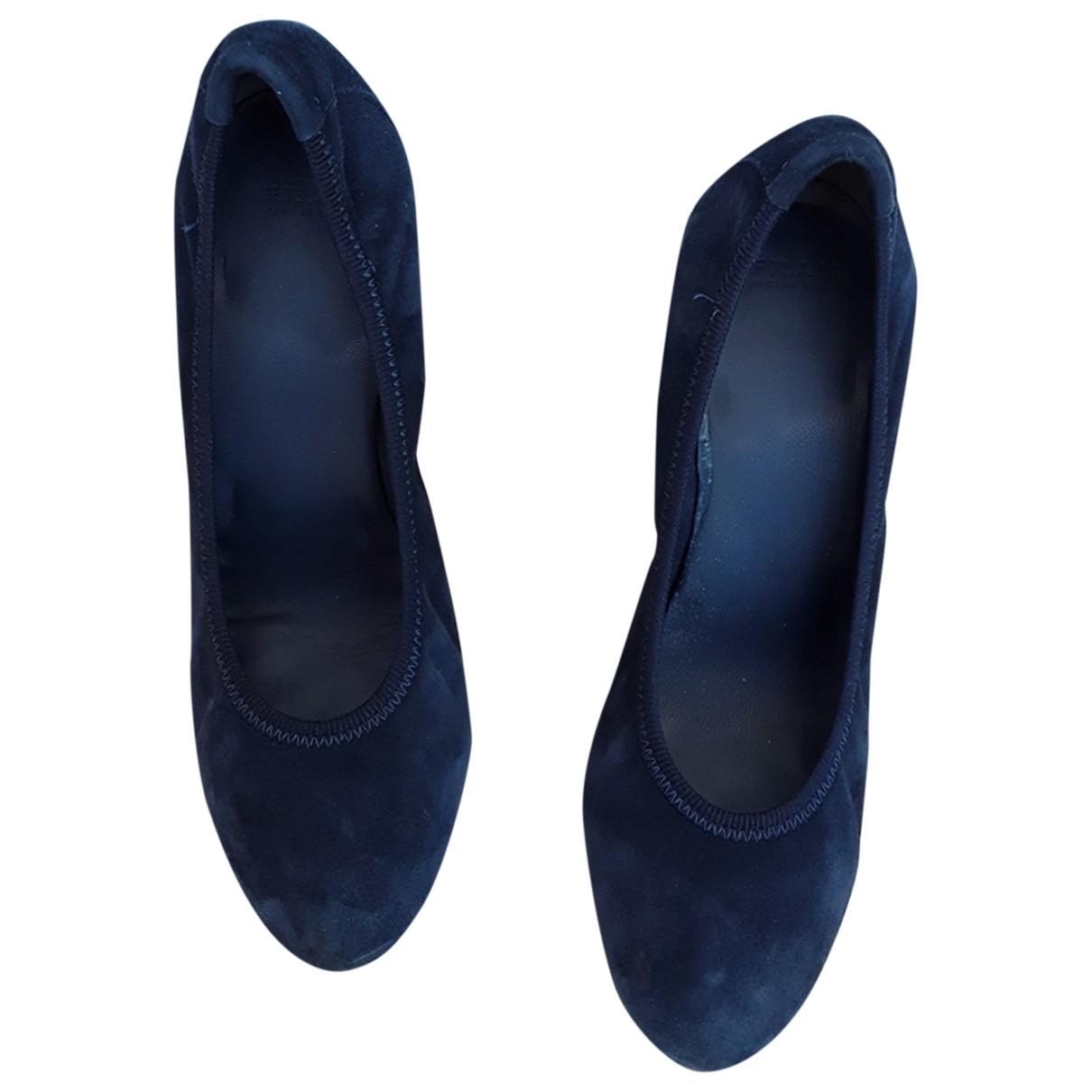 Non Signé / Unsigned \N Blue Suede Ballet flats for Women 40 EU