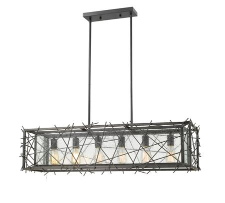 Stanwood 8000-6L-BRZ 10 6 Light Island/Billiard Contemporary  Rustic  Transitionalhave Steel Frame with Bronze finish in Water