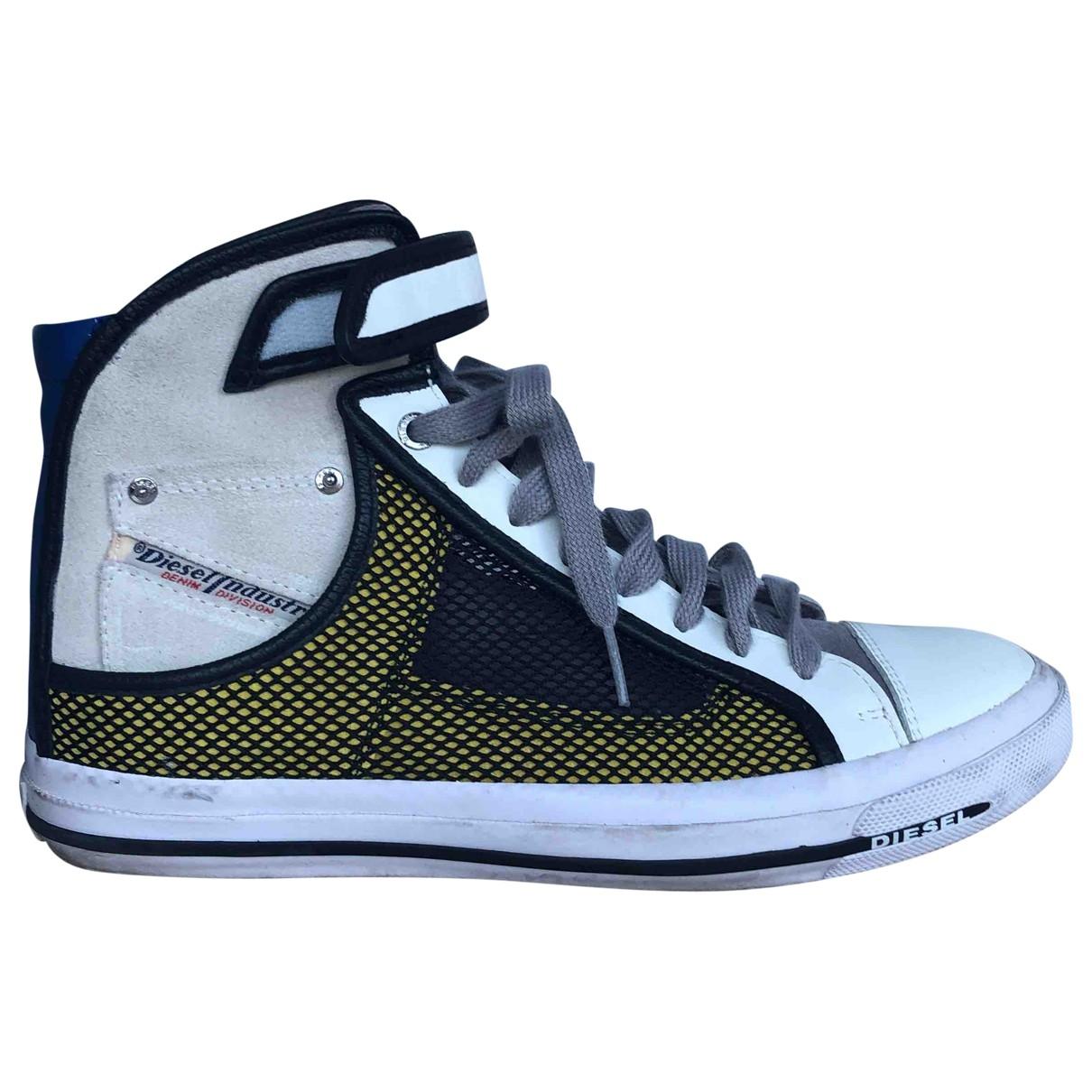 Diesel \N Sneakers in  Weiss Leder