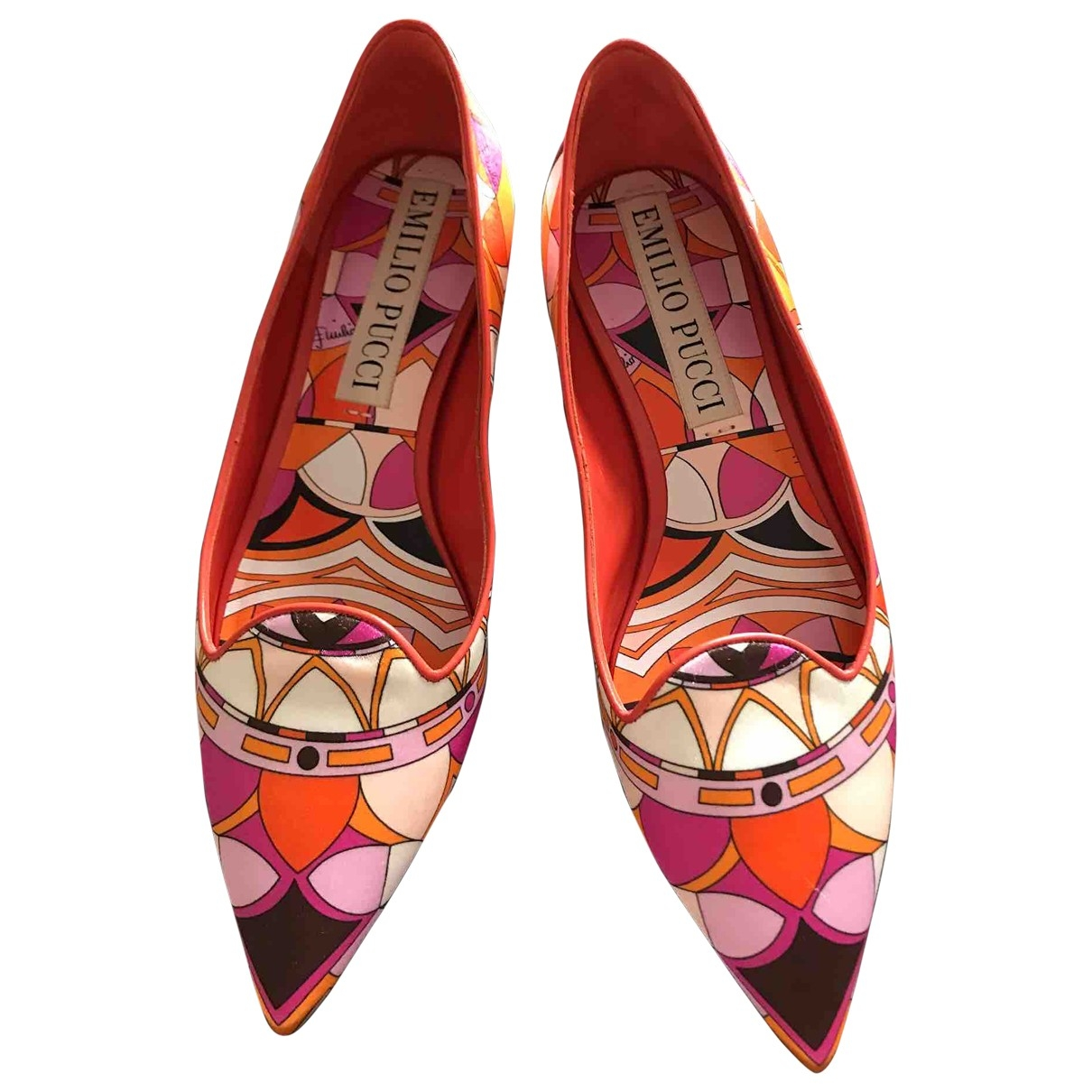 Emilio Pucci \N Multicolour Cloth Ballet flats for Women 36 EU