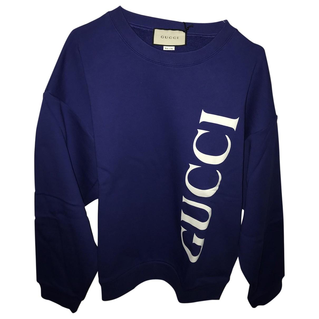 Gucci \N Pullover.Westen.Sweatshirts  in  Blau Baumwolle
