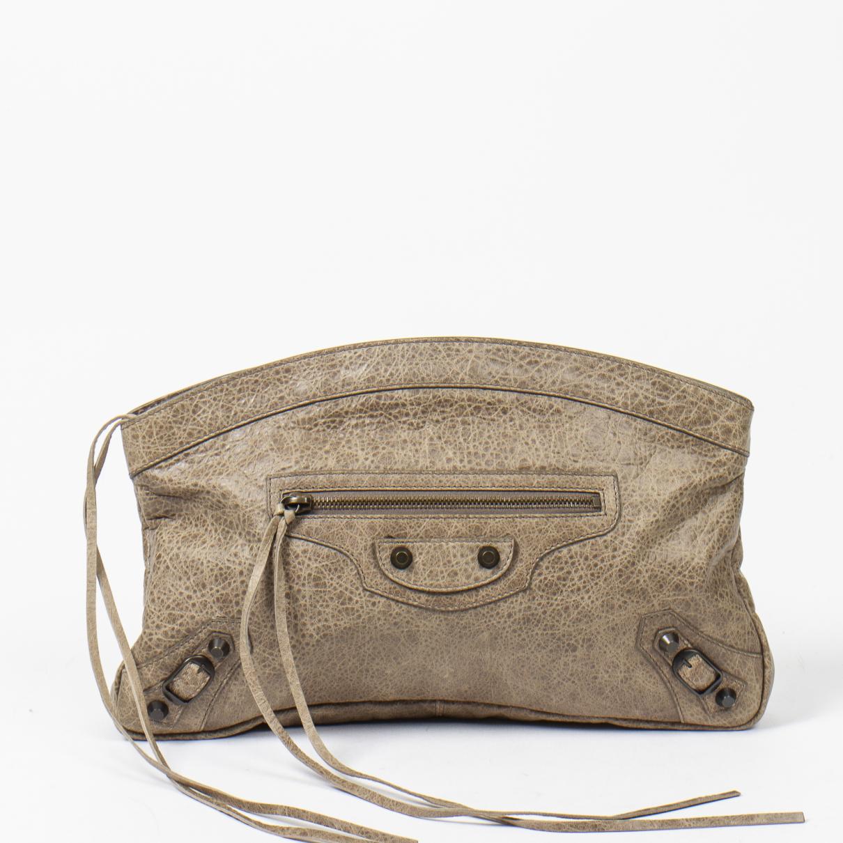 Balenciaga \N Clutch in  Braun Leder
