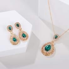 3pcs Gemstone Decor Jewelry Set