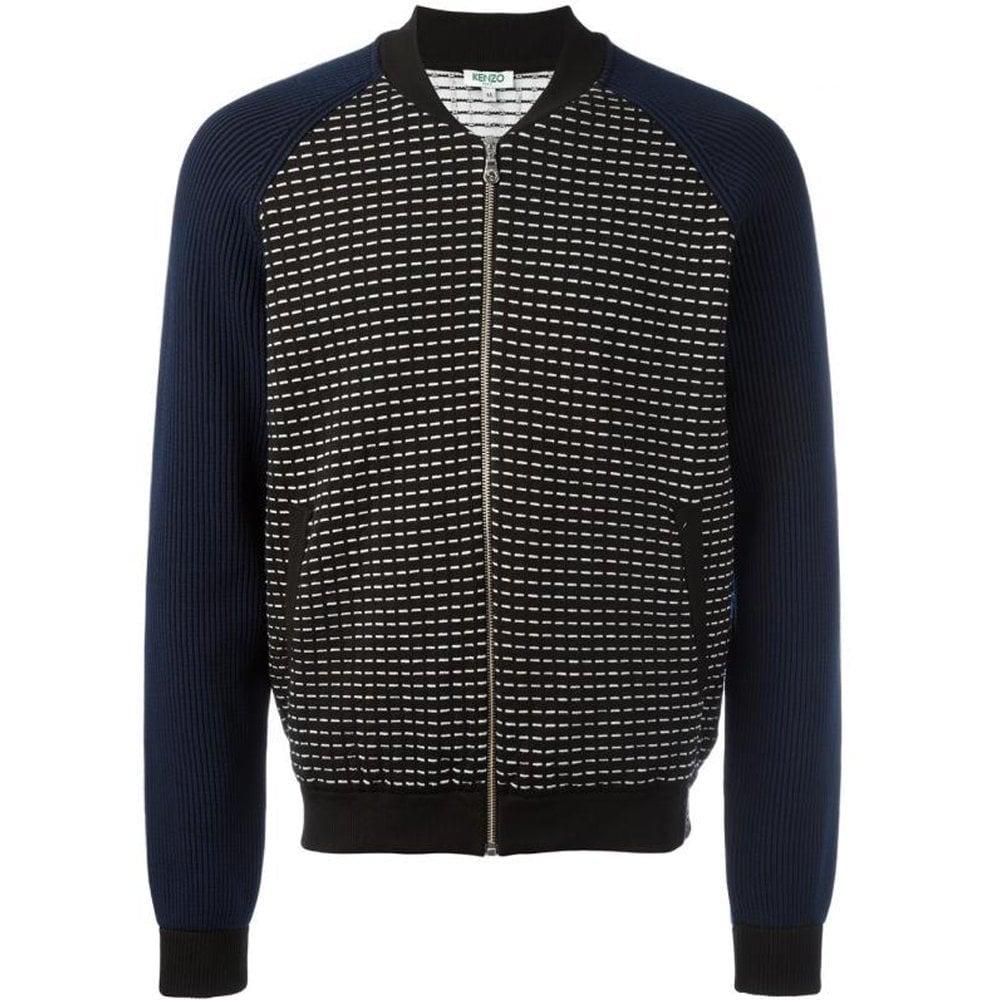 Kenzo Knitted Cardigan Colour: BLACK, Size: LARGE