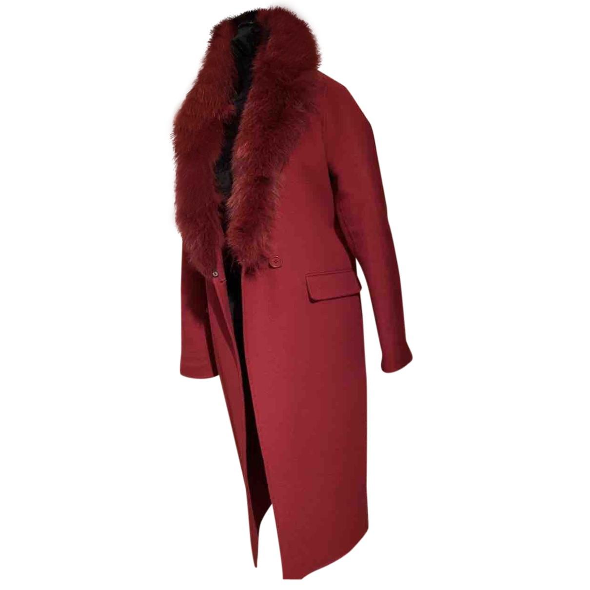 Parosh - Manteau   pour femme en laine - rouge