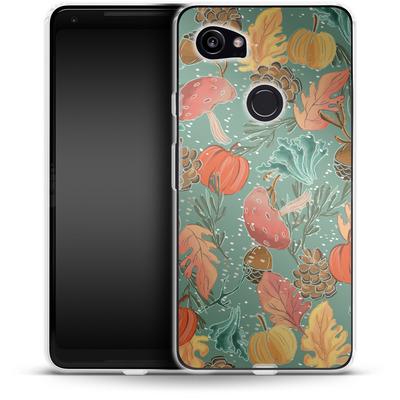 Google Pixel 2 XL Silikon Handyhuelle - Fall Woodland Green von Mukta Lata Barua