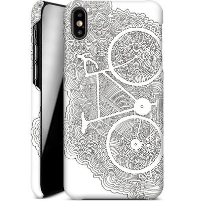 Apple iPhone XS Max Smartphone Huelle - Bike Drawing Meditation von Kaitlyn Parker