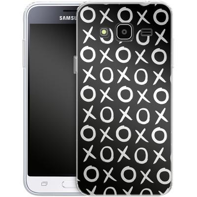 Samsung Galaxy J3 (2016) Silikon Handyhuelle - Love XO Black von Amy Sia