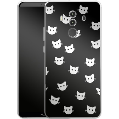 Huawei Mate 10 Pro Silikon Handyhuelle - Cat Pattern von caseable Designs