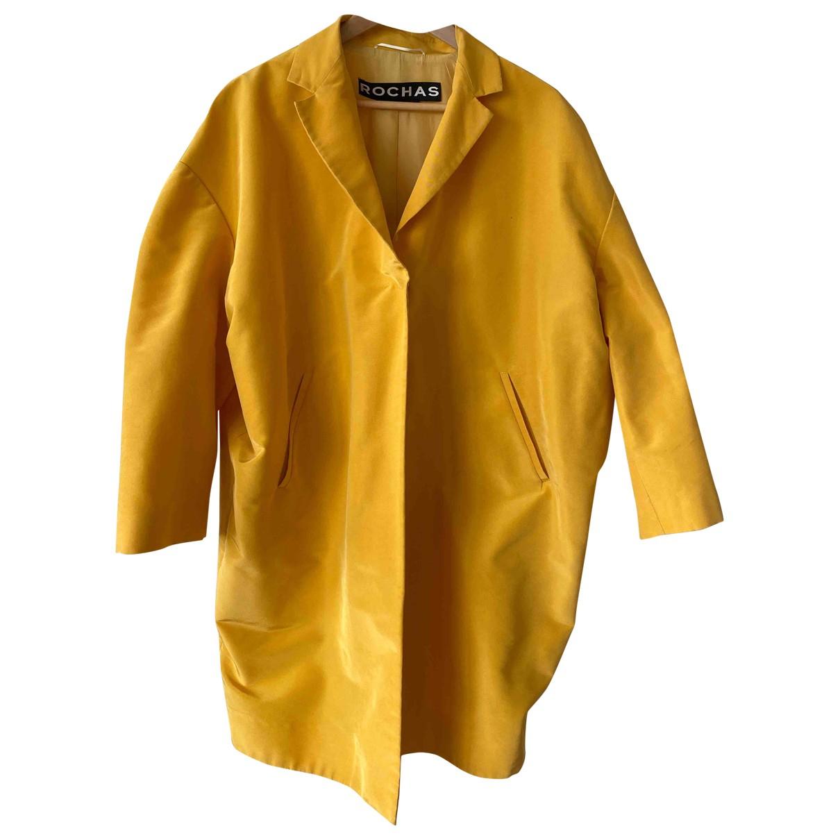 Rochas - Manteau   pour femme en soie - jaune
