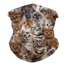 Sonnenschutz fuer Gesicht mit Katze Muster
