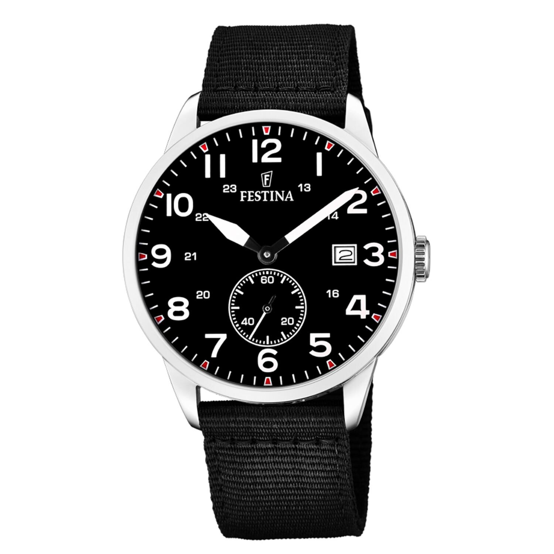 Festina Men's Box Set F20347-3 Black Canvas Quartz Fashion Watch