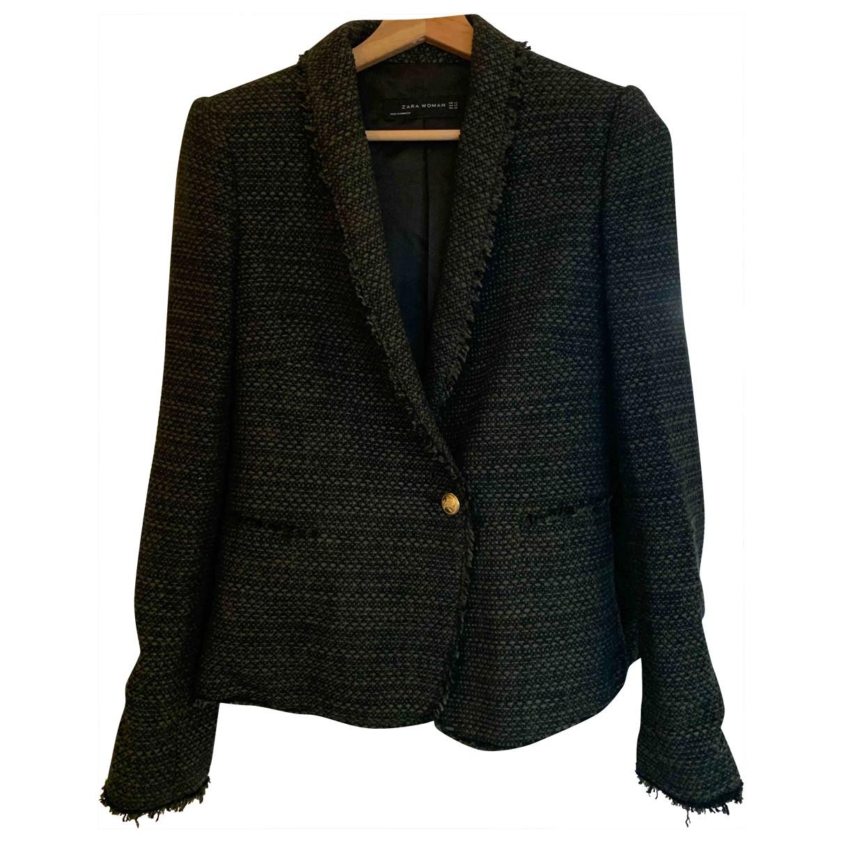 Zara \N Jacke in  Khaki Tweed