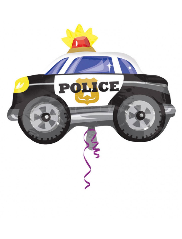 Folienballon Polizeiauto Farbe: schwarz/weiss