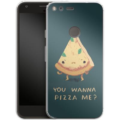 Google Pixel XL Silikon Handyhuelle - You Wanna Pizza Me? von Louis Ros