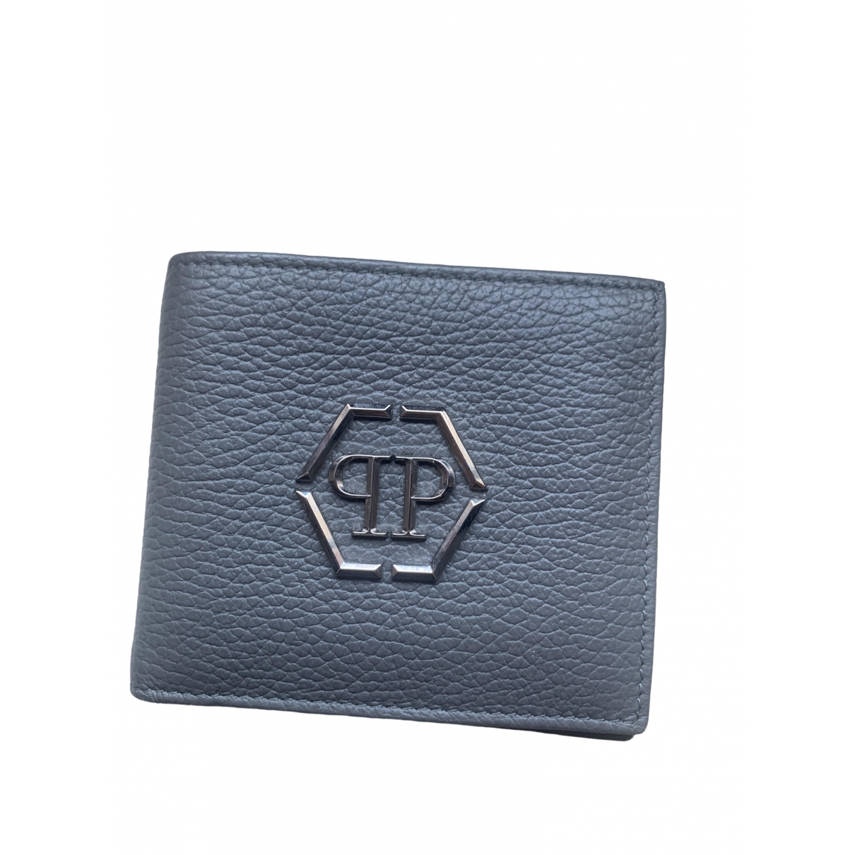 Philipp Plein \N Grey Leather Small bag, wallet & cases for Men \N