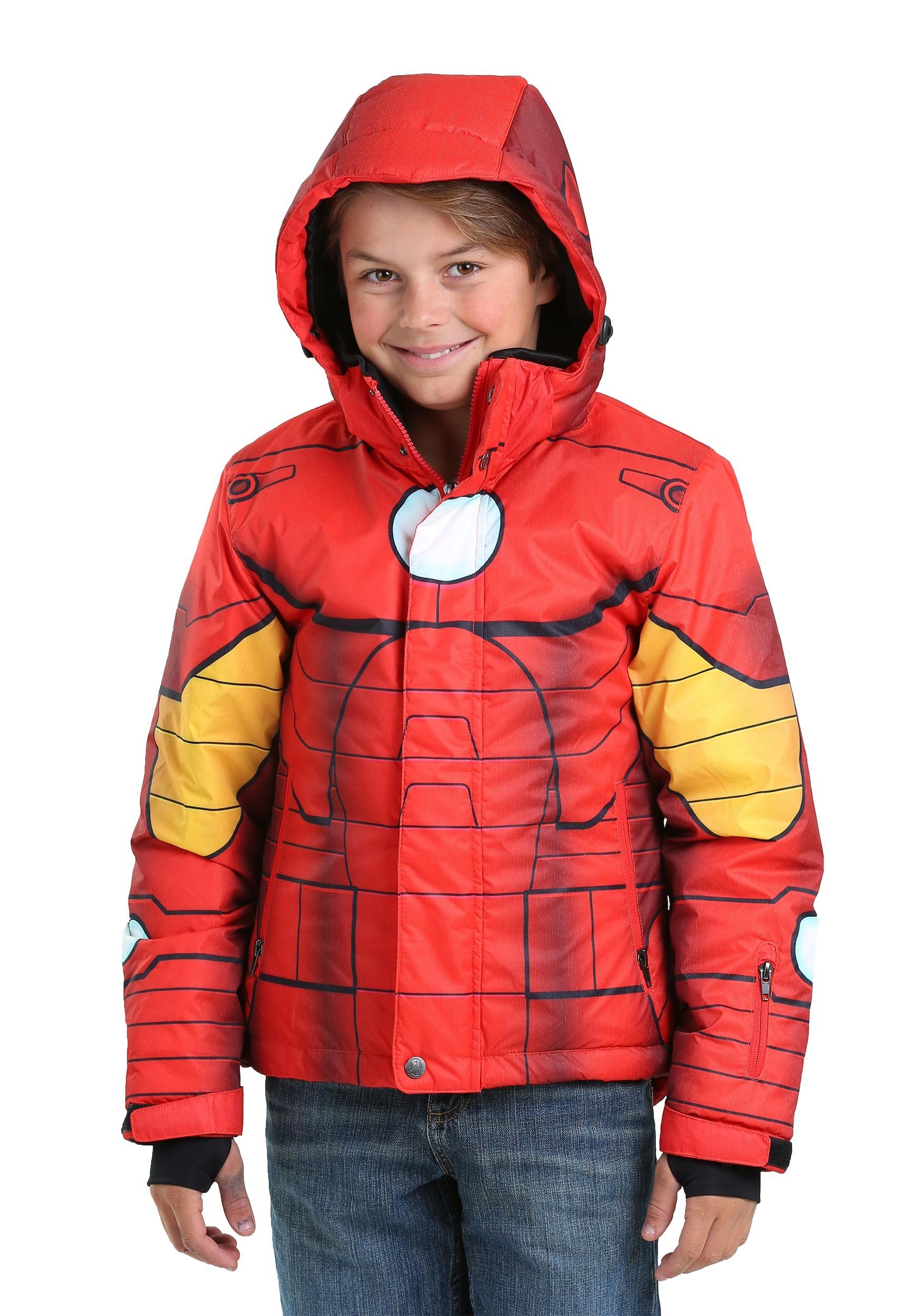 Iron Man Superhero Kids Snow Jacket