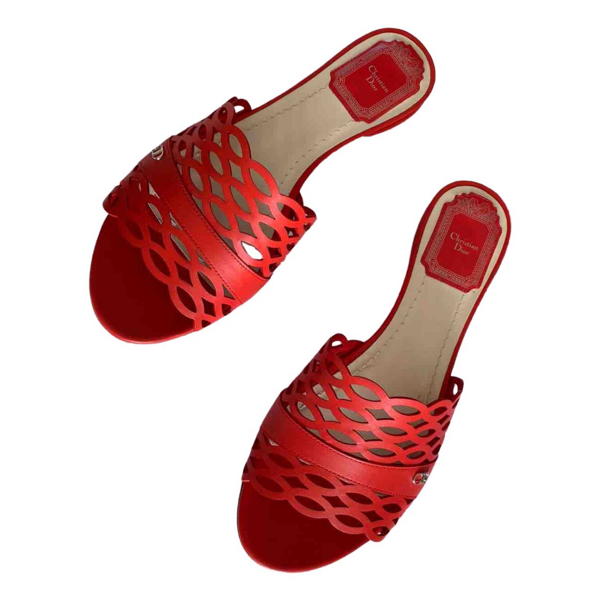Dior \N Red Leather Sandals for Women 37 EU