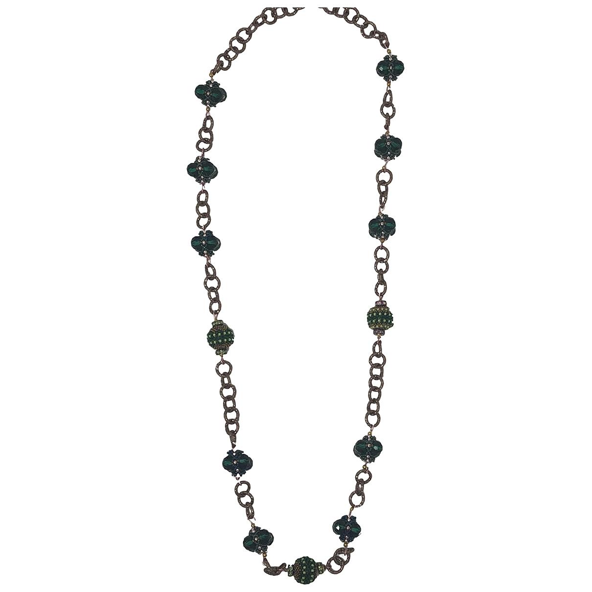 - Collier   pour femme en cristal - vert