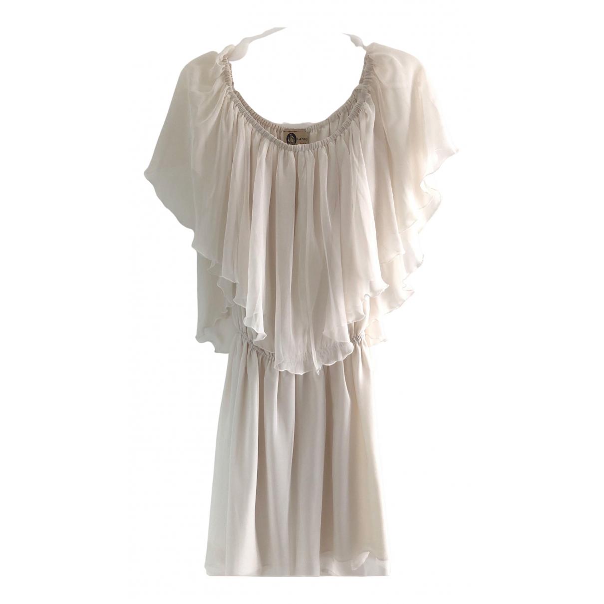 Lanvin - Robe   pour femme en soie - blanc