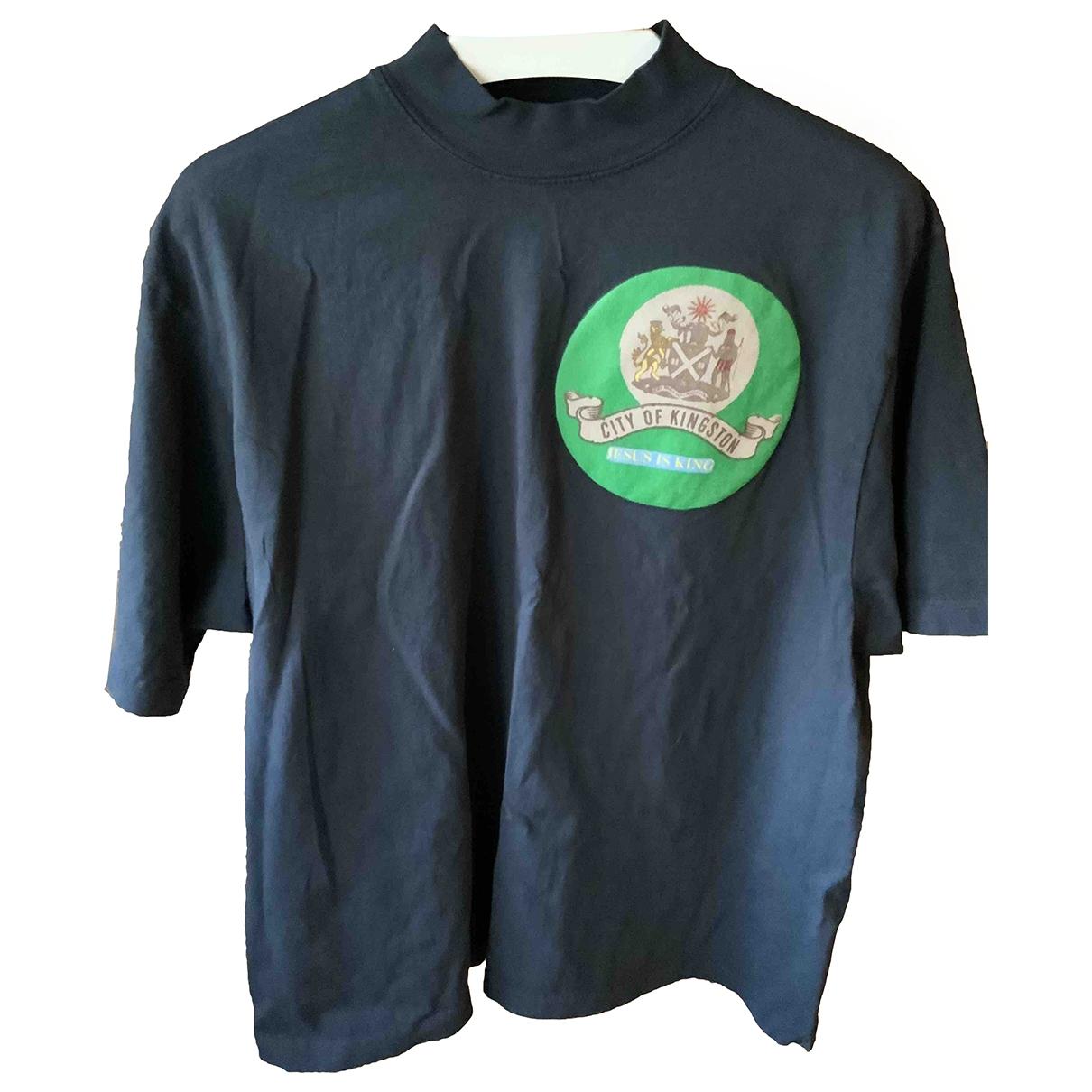 Yeezy \N Navy Cotton T-shirts for Men M International