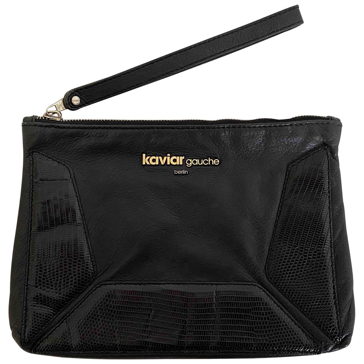Kaviar Gauche \N Clutch in  Schwarz Leder