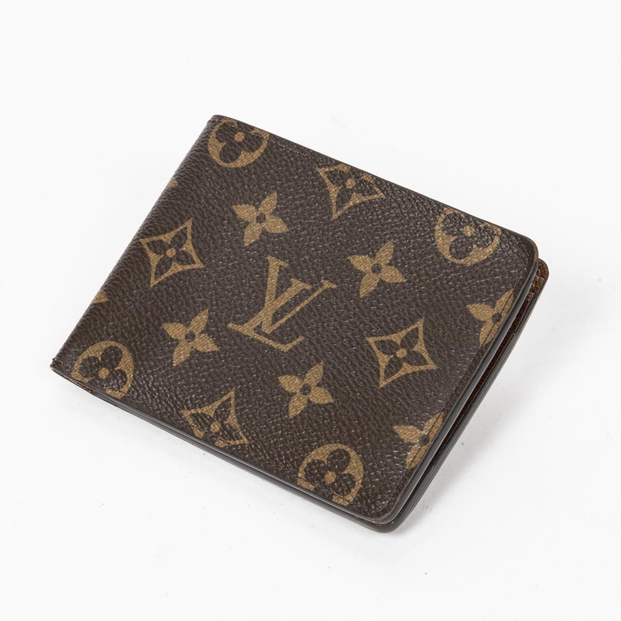 Louis Vuitton \N Portemonnaie in  Braun Baumwolle