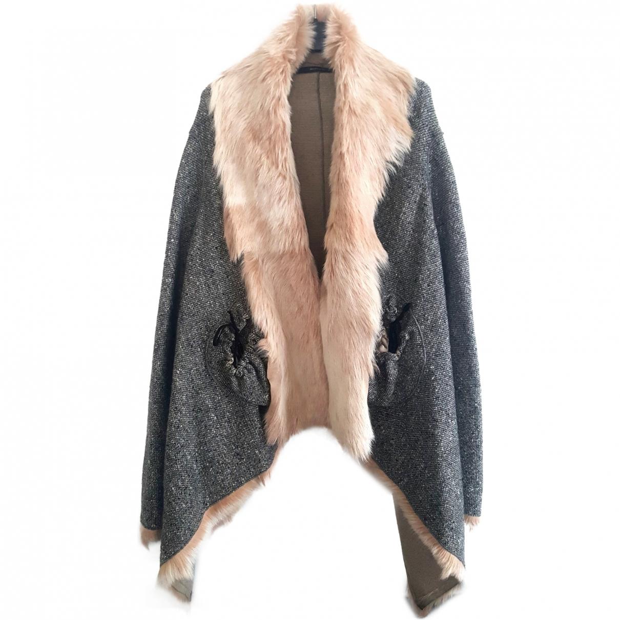 Maurizio Pecoraro - Manteau   pour femme en laine - gris
