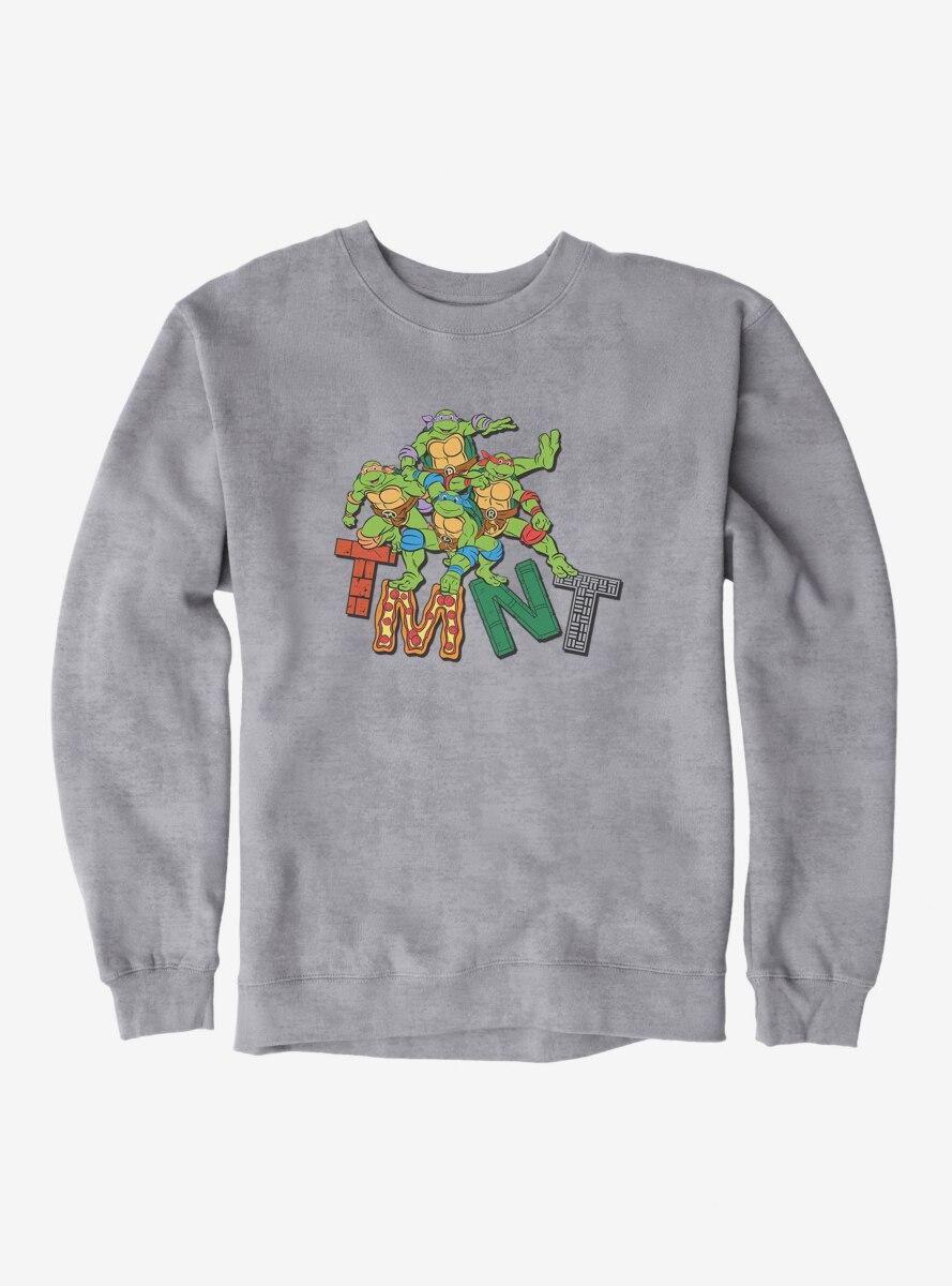 Teenage Mutant Ninja Turtles Patterned Logo Letters Group Sweatshirt