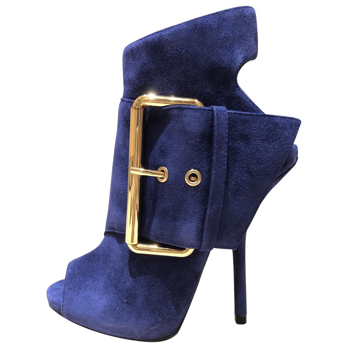 Giuseppe Zanotti - Boots   pour femme en suede - violet