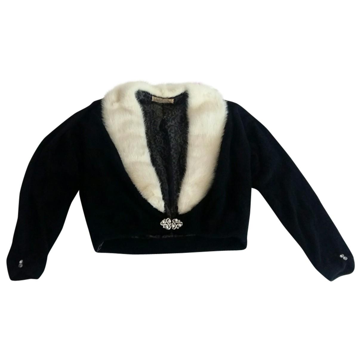 Non Signé / Unsigned \N Black Mink Knitwear for Women M International